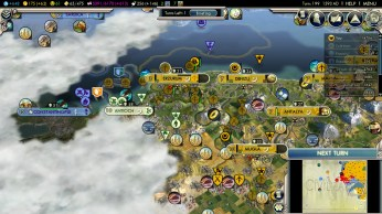 Civilization 5 Into the Renaissance Russia Deity - Approaching Constantinople