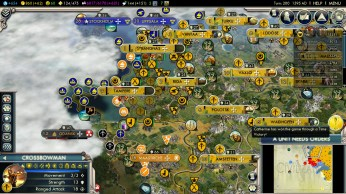 Civilization 5 Into the Renaissance Russia Deity - Driving Sweden out of the Baltics