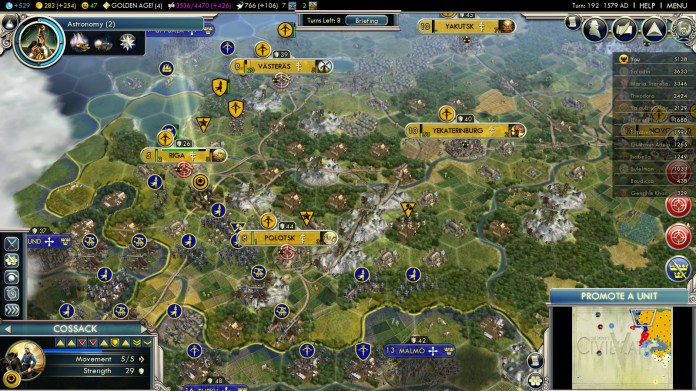 Civilization 5 Into the Renaissance Yokes on the Mongols - Swedish Attack
