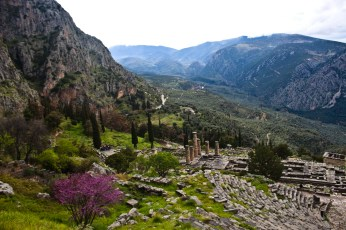 Archaeological site at Delphi