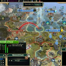 Civilization 5 Conquest of the New World Tout le Monde Francophone - Veteran Ships firing at Tenochtitlan