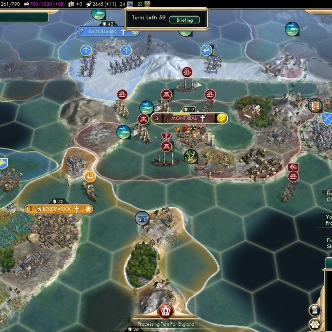 Civilization 5 Conquest of the New World Spain Deity - French Northern Colonies