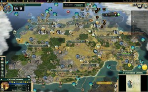 Civilization 5 Conquest of the New World Iroquois Deity 1 - Great Empire, still failed with 5k score