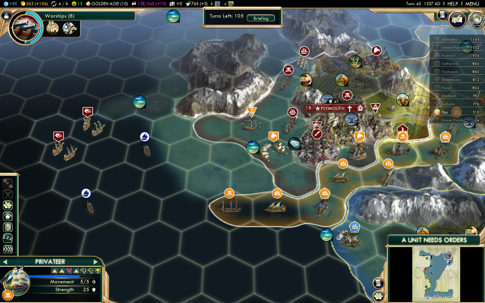 Civilization 5 Conquest of the New World Netherlands Deity - English Treasures