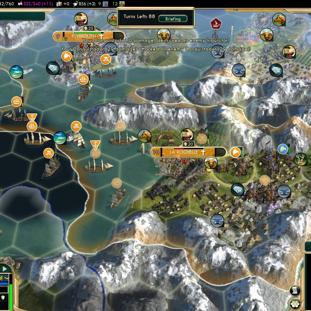 Civilization 5 Conquest of the New World Netherlands Deity - France
