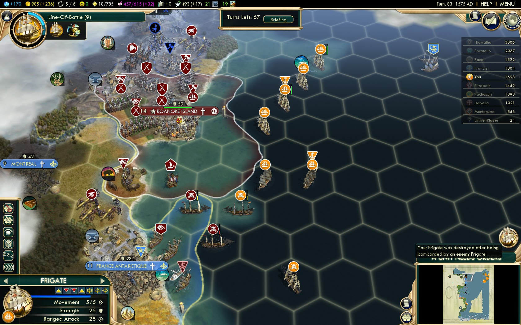 Civilization 5 Conquest of the New World Netherlands Deity - The Americas