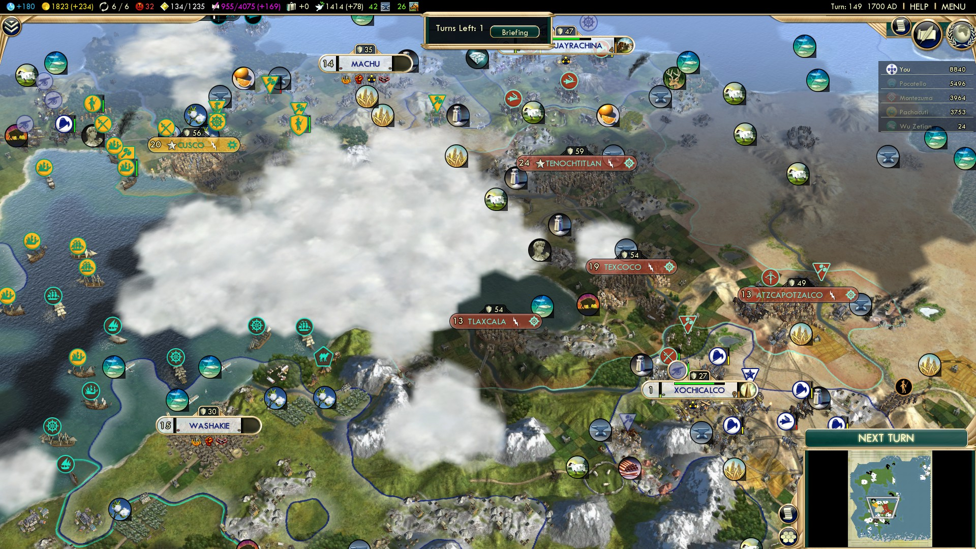 Civilization 5 Conquest of the New World Portugal Deity - Aztec Empire