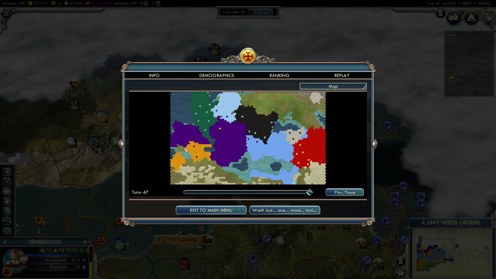 Civilization 5 Fall of Rome Vandals Deity - Slow Conquest
