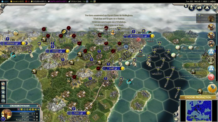 2019 Gaming in Review - Civ V - Into the Renaissance: Sweden conquering everything