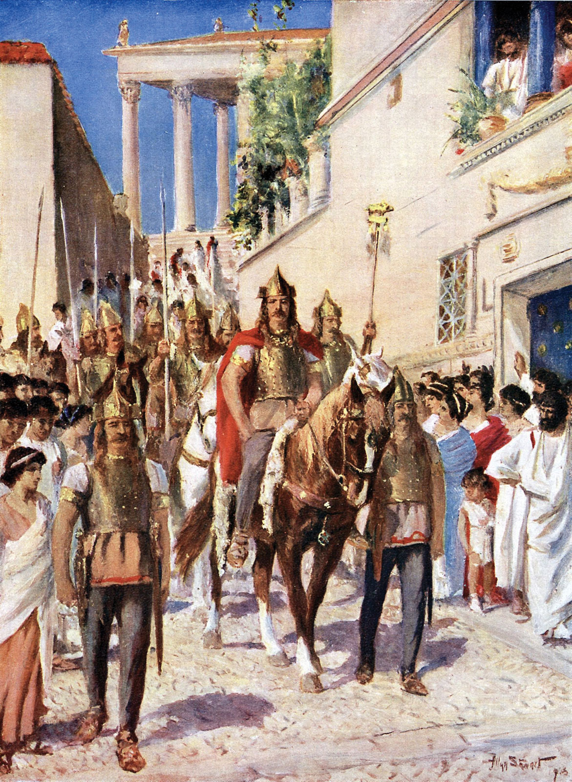 Alaric entering Athens