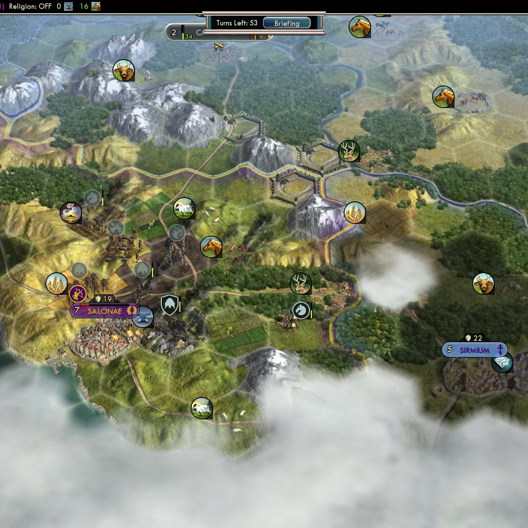 Civilization 5 Fall of Rome Goths Deity - Raze Salonae