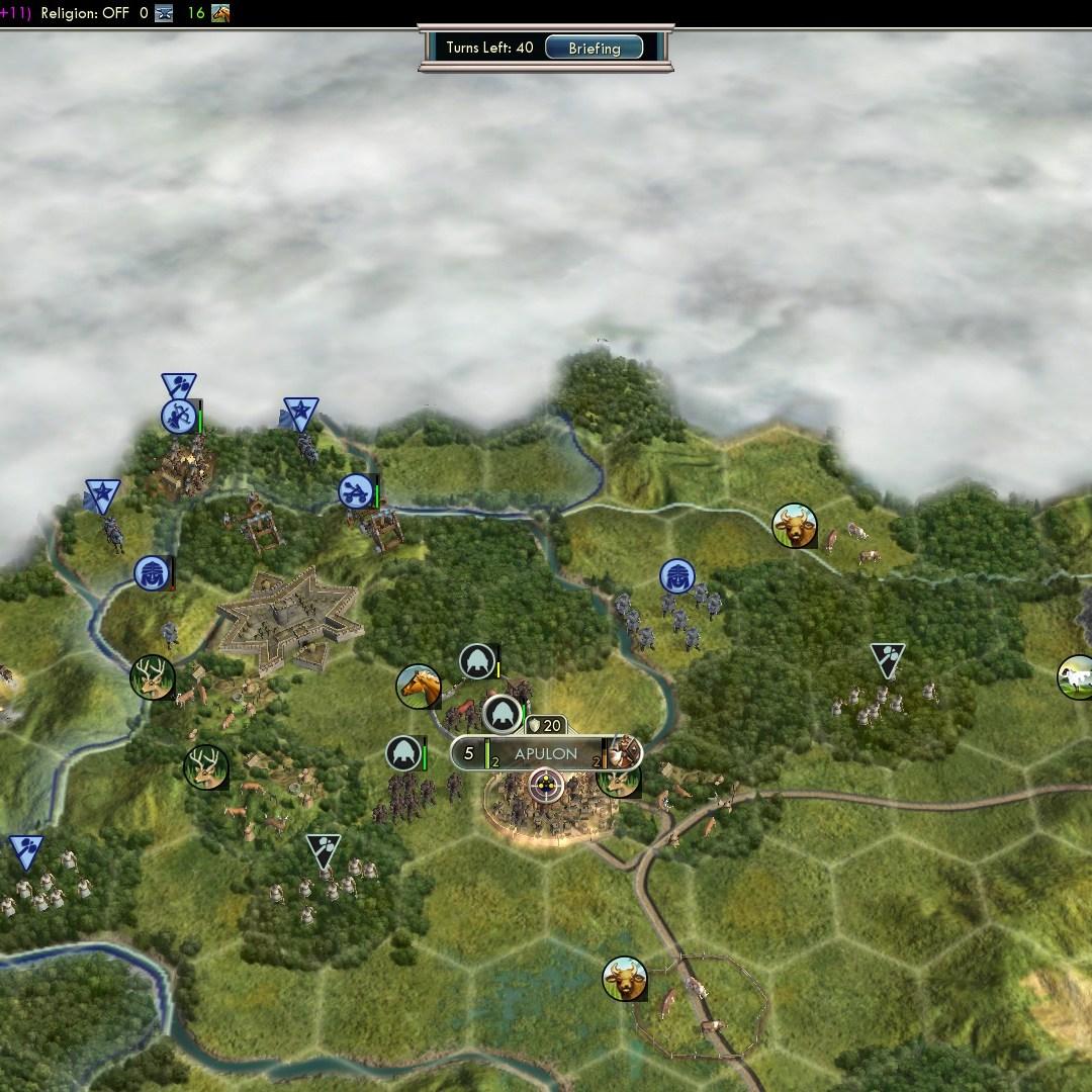 Civilization 5 Fall of Rome Goths Deity - Apulons 3 unit defense