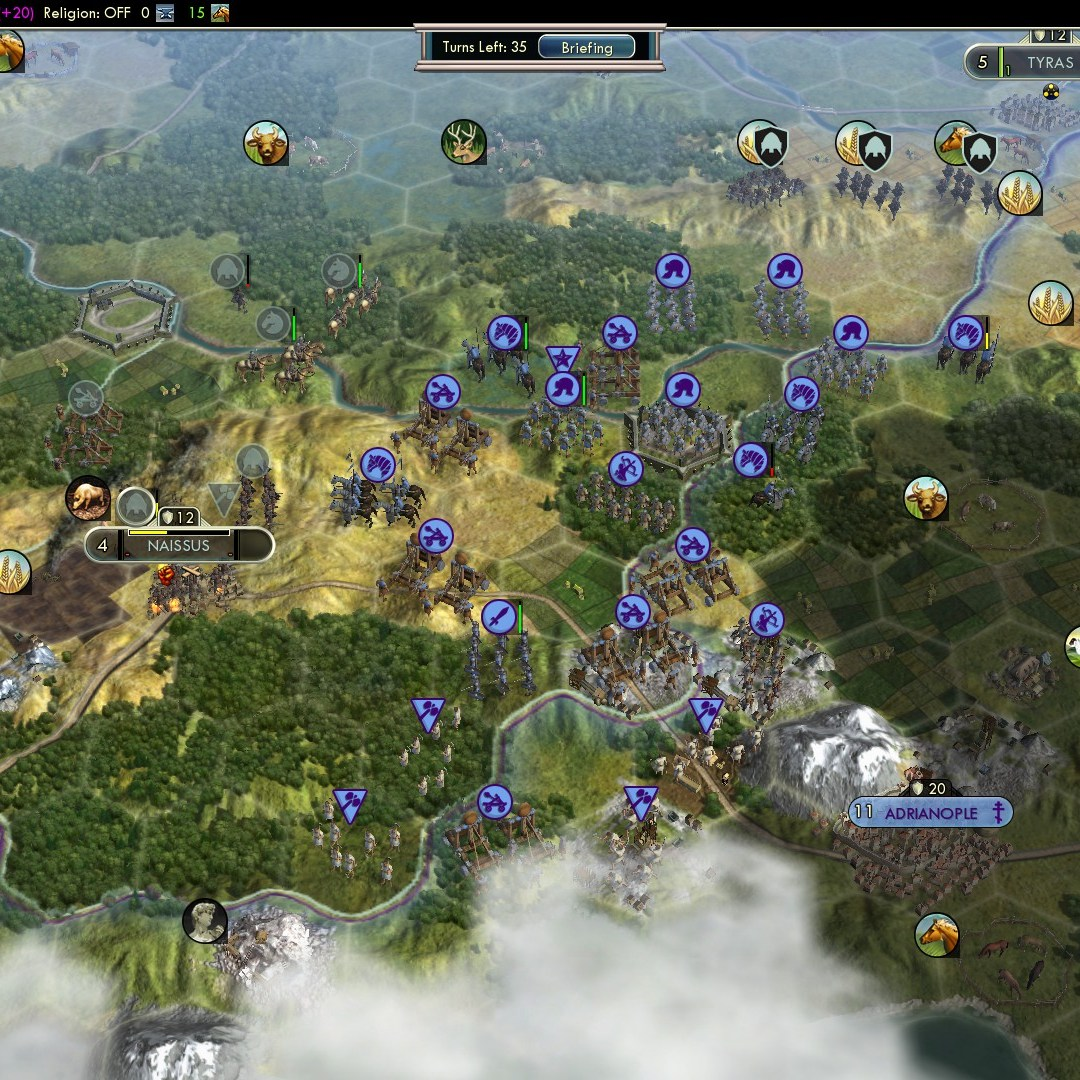 Civilization 5 Fall of Rome Goths Deity - Naissus falls, Romans come