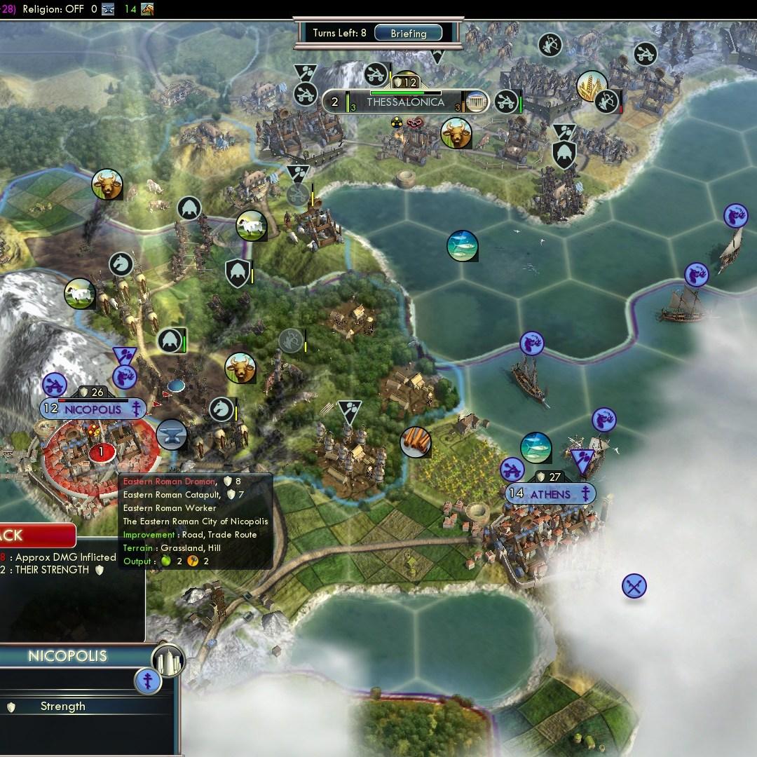 Civilization 5 Fall of Rome Goths Deity - Nicopolis