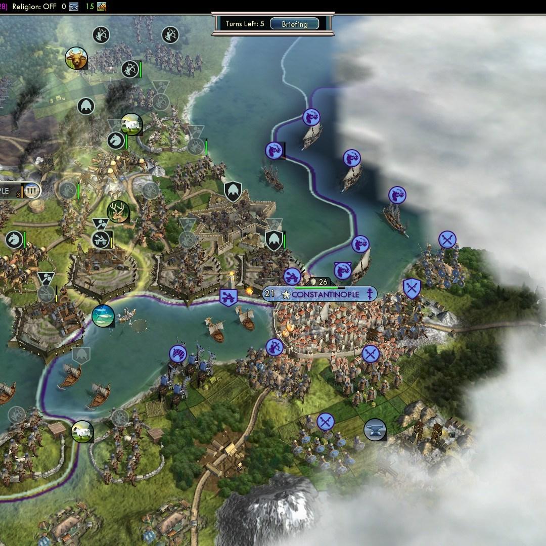 Civilization 5 Fall of Rome Goths Deity - Crossing the Sea of Marmara
