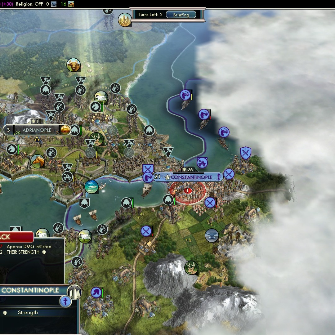 Civilization 5 Fall of Rome Goths Deity - Attack formation