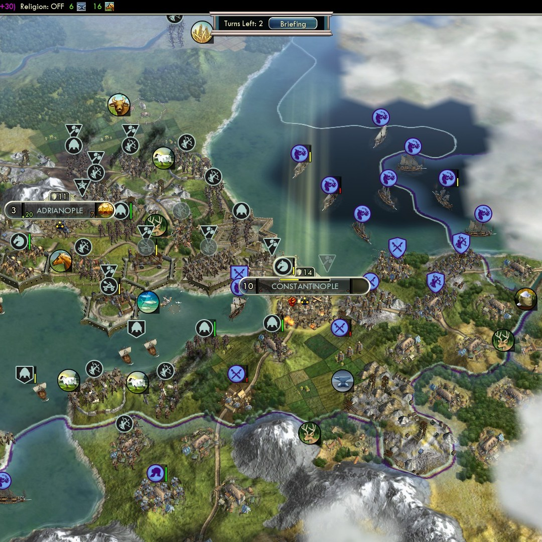 Civilization 5 Fall of Rome Goths Deity - Constantinople captured