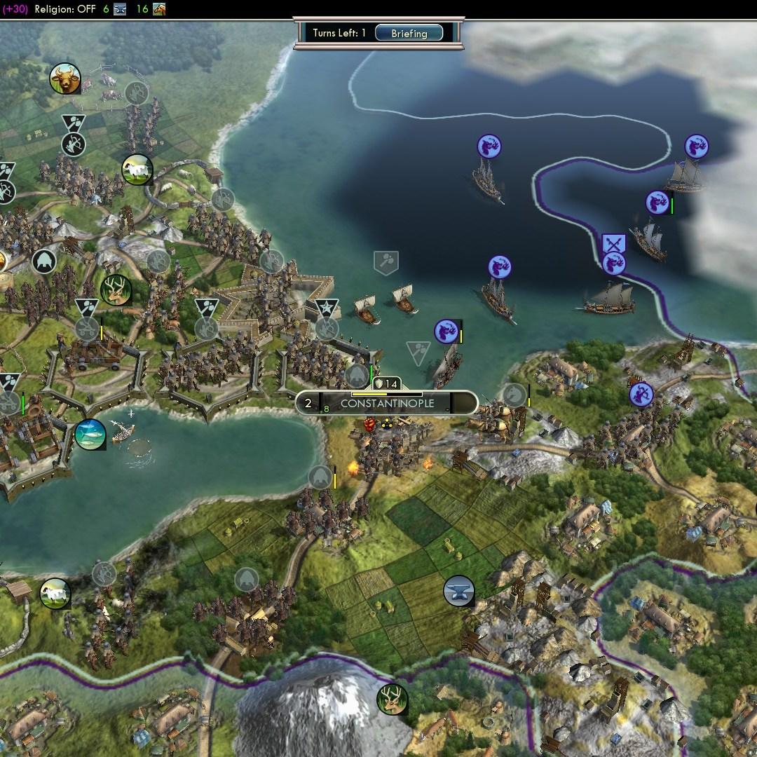 Civilization 5 Fall of Rome Goths Deity - Constantinople recaptured