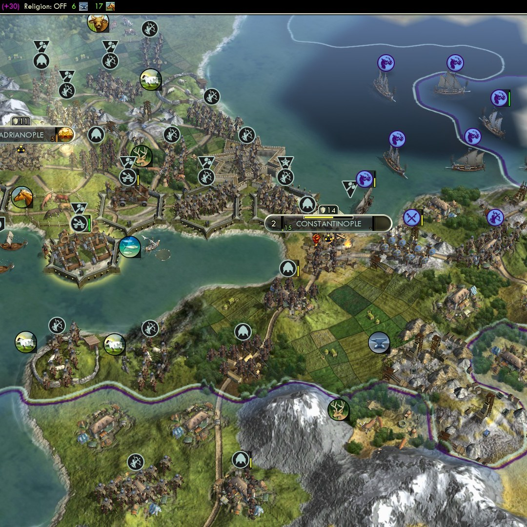 Civilization 5 Fall of Rome Goths Deity - Constantinople secured