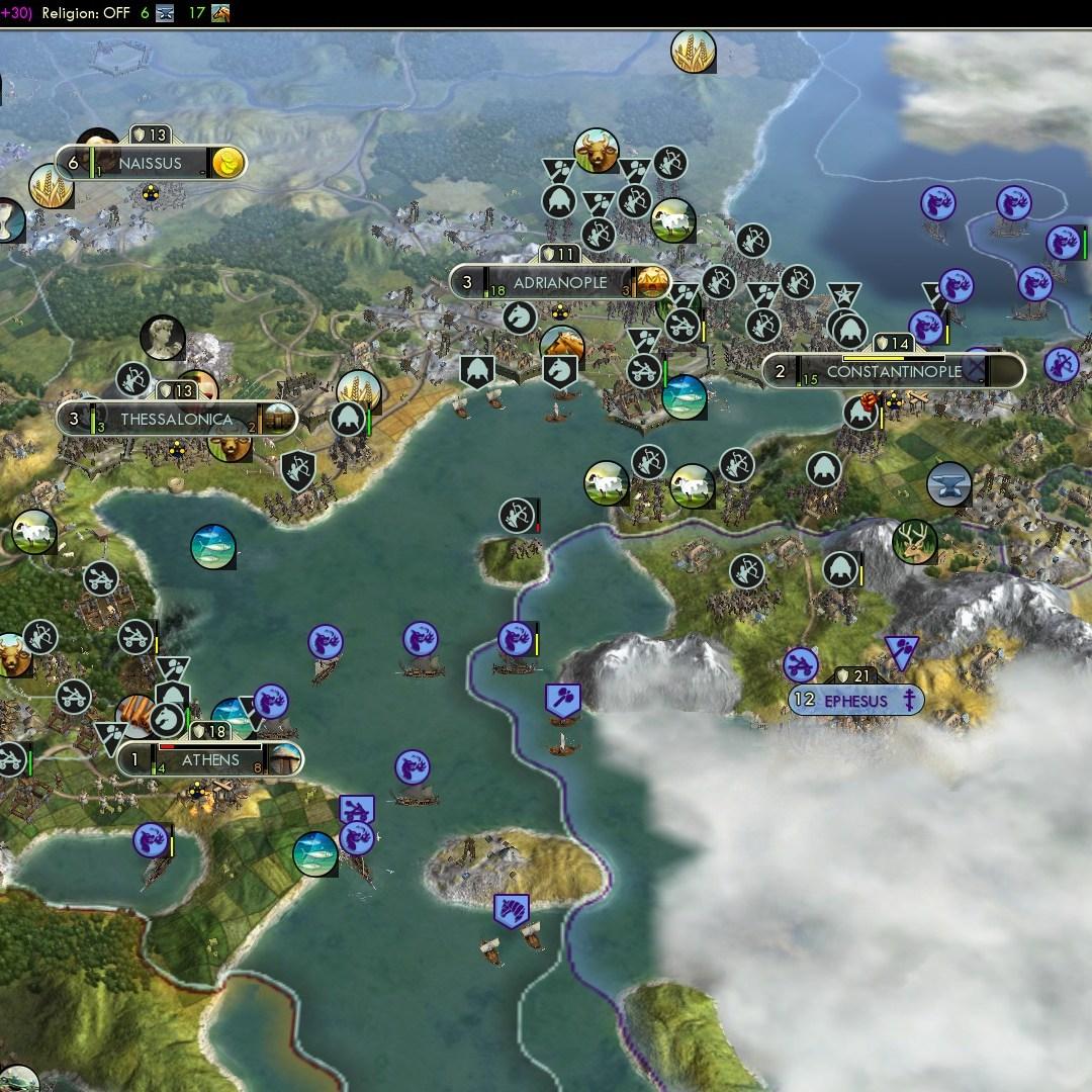 Civilization 5 Fall of Rome Goths Deity - Goth Balkans