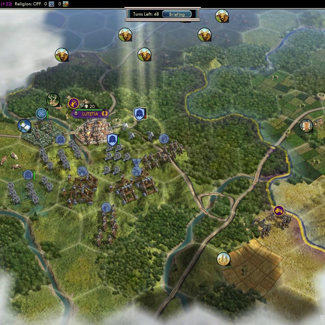 Fall of Rome Franks Deity 22 Attack Lutetia early