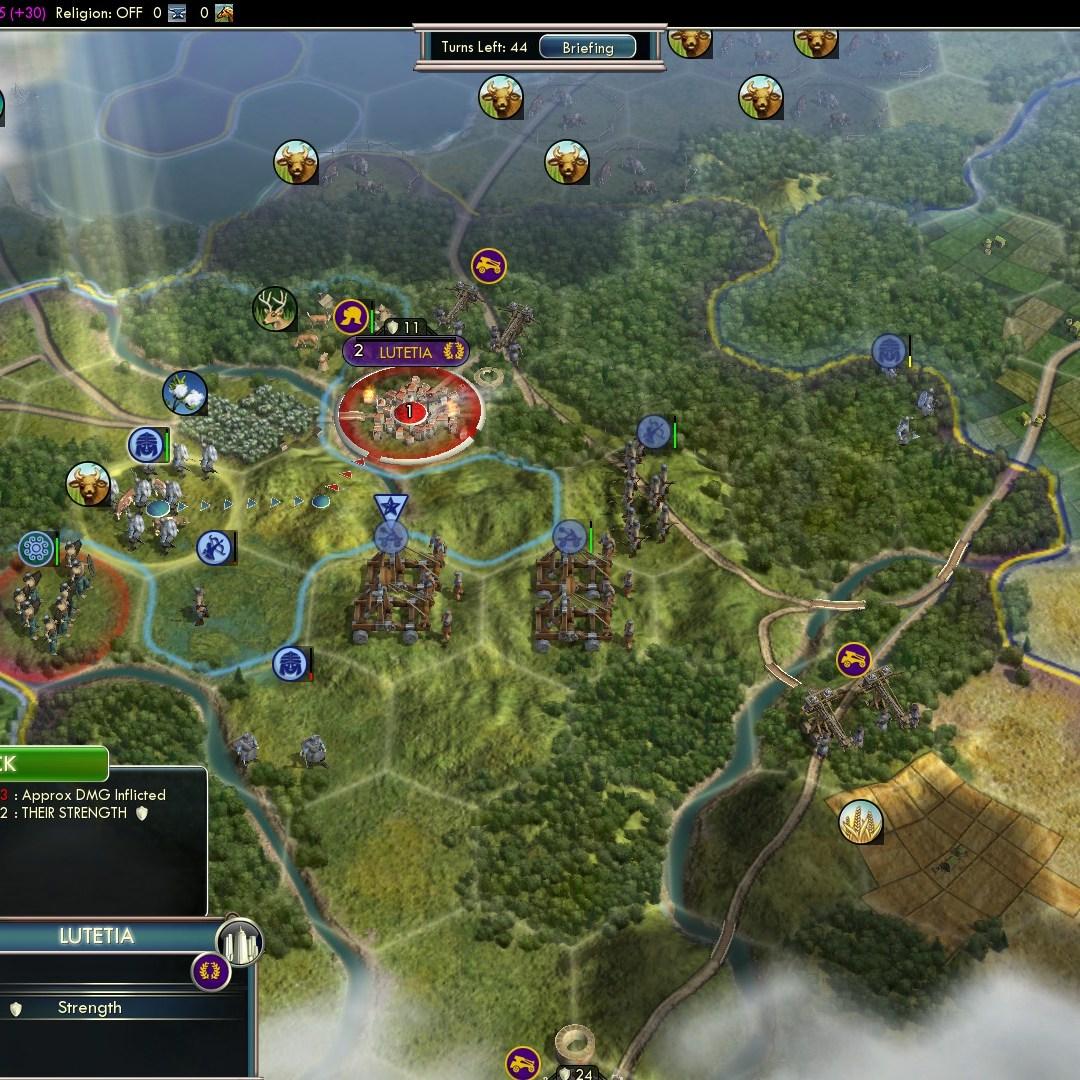 Fall of Rome Franks Deity 26 Capture and raze Lutetia