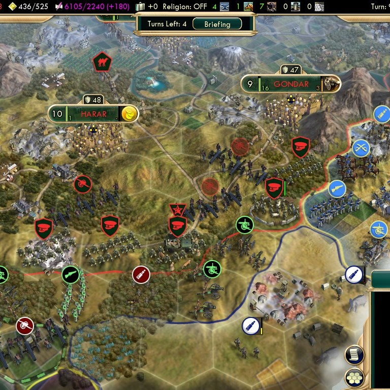 Civilization 5 Scramble for Africa Ethiopia Deity - Southern Border
