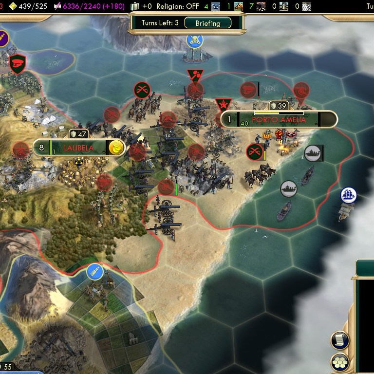 Civilization 5 Scramble for Africa Ethiopia Deity - Capturing the Horn of Africa