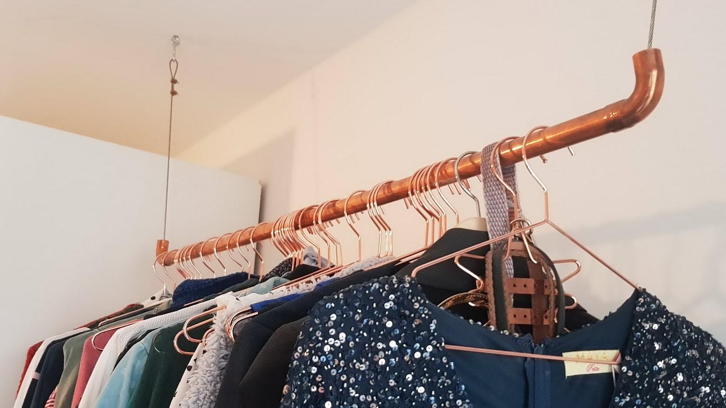 DIY Wardrobe rail copper - Aesthetics