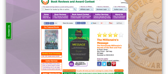 The Millionaire's Message Receives High Marks from Readers' Favorites
