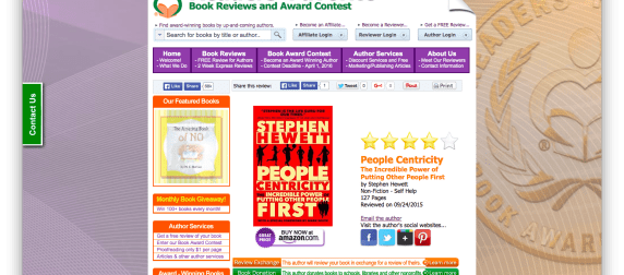 "People Centricity a ""Very Good Read"" According to Readers' Favorites"