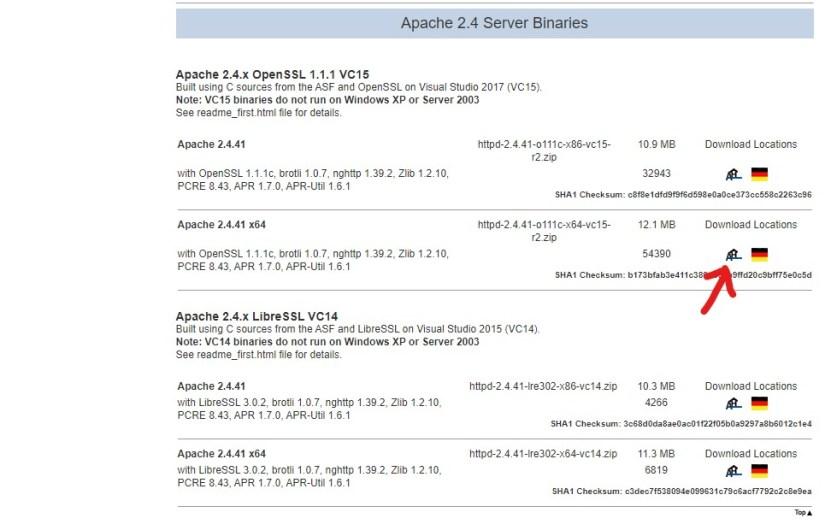 Apache 2.4 download