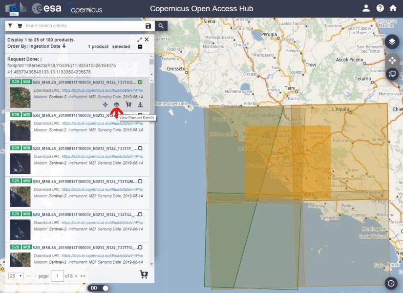 Updated satellite image datas