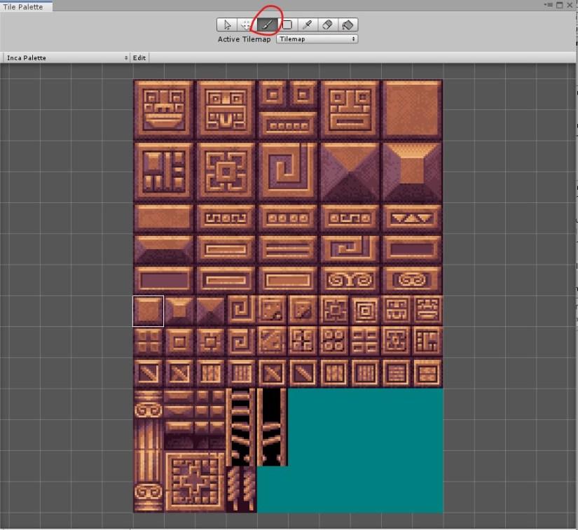 Tile Palette di Unity