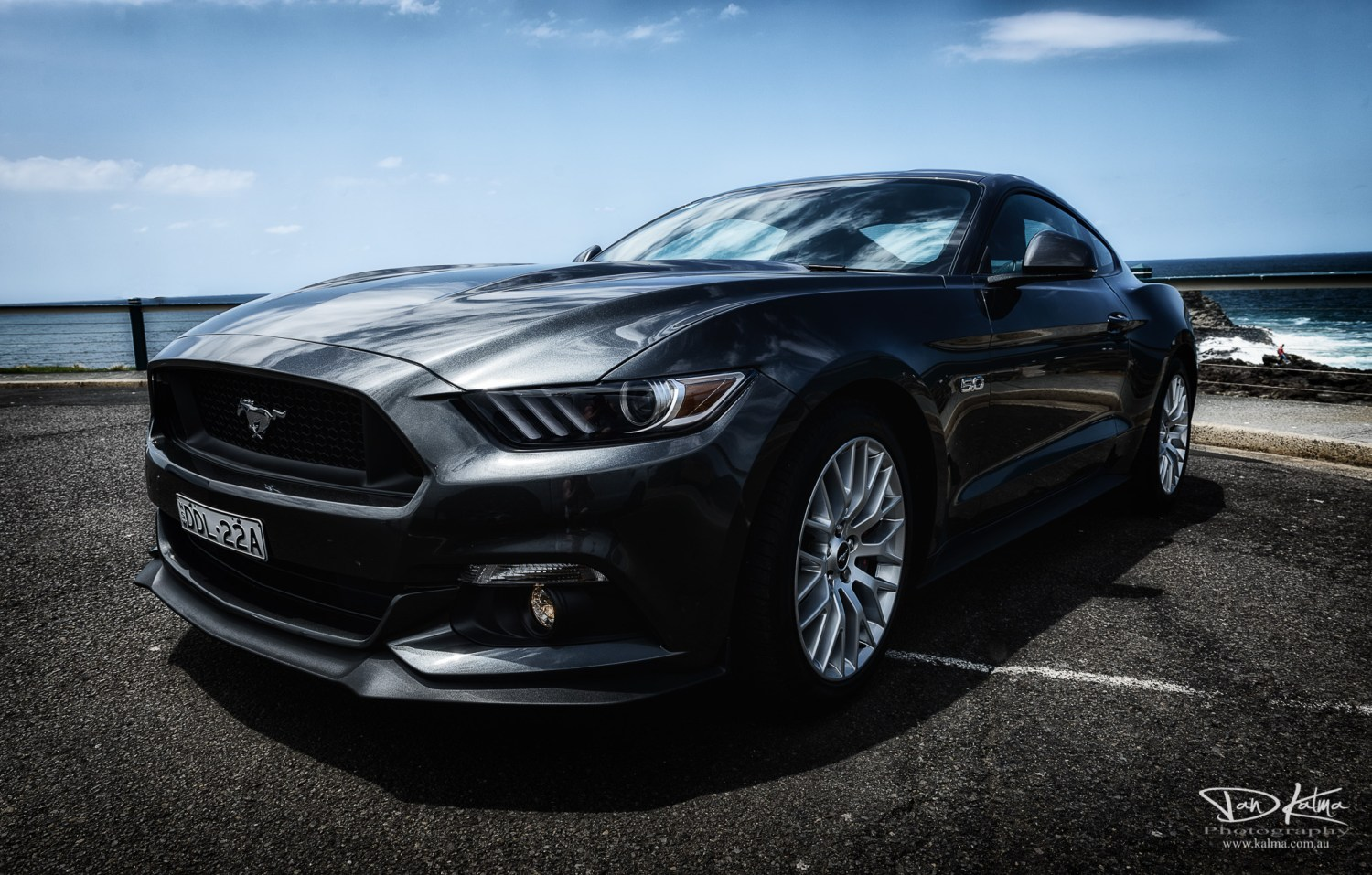 Mustang 5.0 car Kiama blowhole new south wales australia dan kalma photography