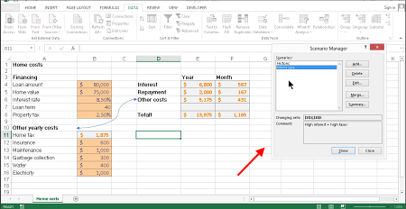 Excel Scenarios - an Excel Tip from kalmstrom.com Business ...