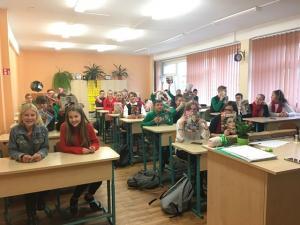 7C , pajartojome GMP veiklas mokykloje, dainavome GMP dainą, kuekvienas mokinys susikūrė ekologinį savo portretą.