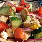 Horiatiki (Greek) Panzanella Salad