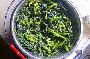 Boiled Amaranth Greens aka Vlita
