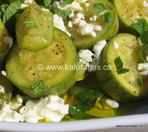 Zucchini Salad With Feta & Mint