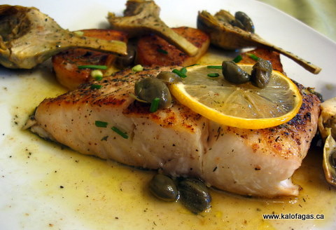 Salmon With Artichokes & Potatoes
