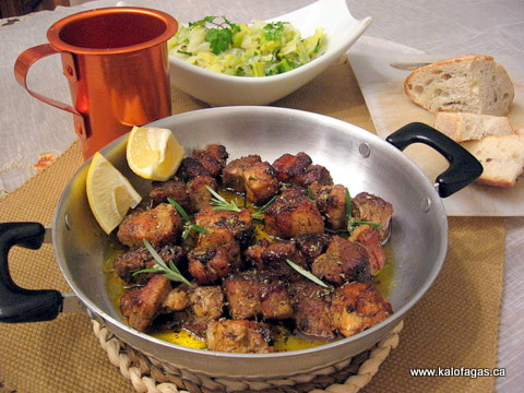 Pork Ladorigani (xοιρινό λαδορήγανη)