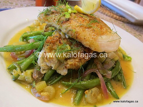 Grouper With Green Beans