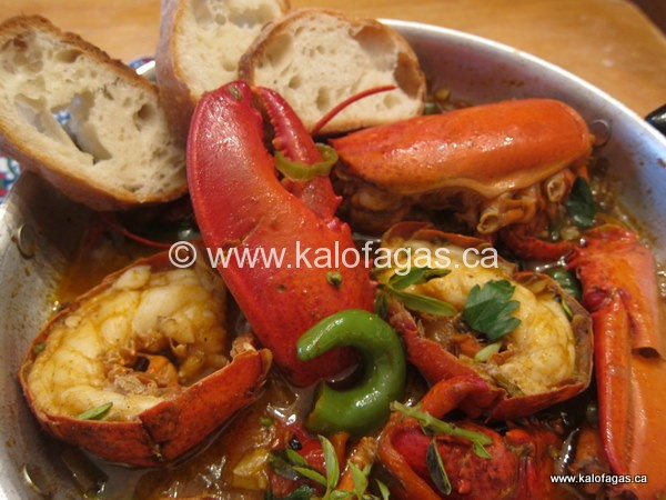 Lobster Saganaki (Αστακος Σαγανακι)