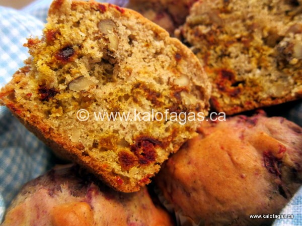Beet & Walnut Muffins