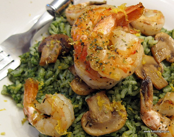 Herbaceous Green Rice & Shrimp