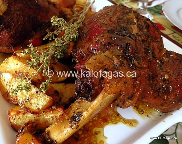 recipe: greek roast lamb [19]