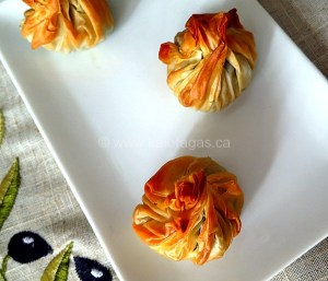 Phyllo Beggar's Purses With Greens