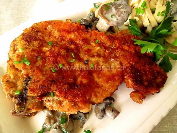 Pork Schnitzel With Mushroom Sauce