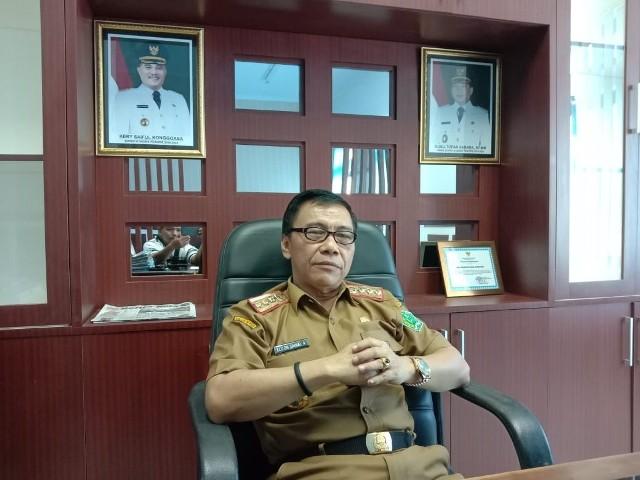Ketgam : Kepala Badan Kepegawaian Daerah (BKD) Kabupaten Konawe, Drs. Elizon Zainal. A, MM